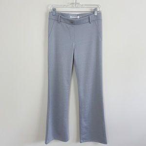 BetaBrand Metallic Gray Dress Pant Yoga Bootcut